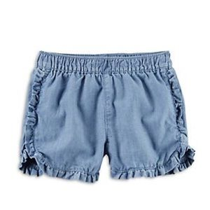 Carter's Girls Ruffle Denim Short 100% Cotton SZ 7